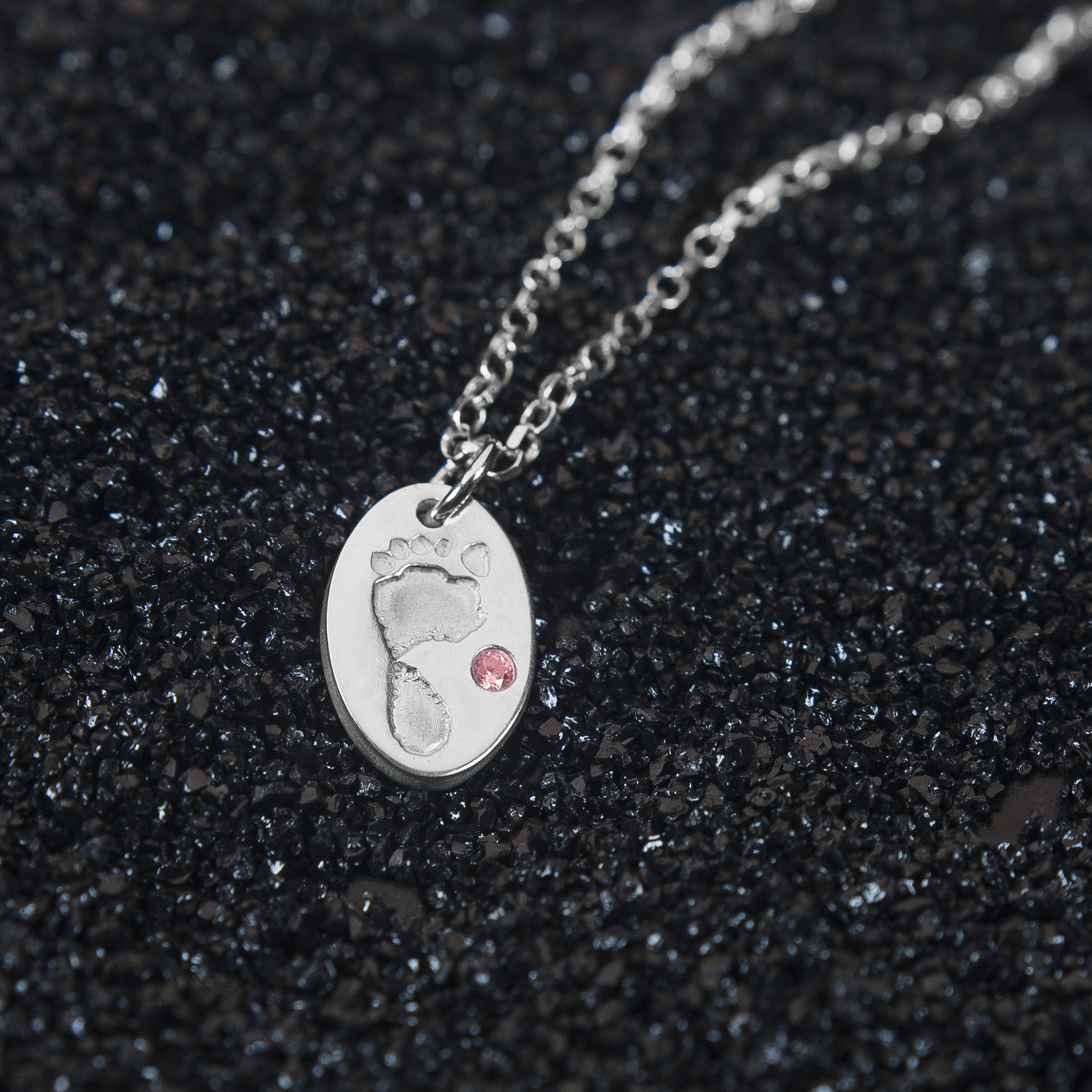Premium baby footprint pendant includes a choice of coloured premium olivia footprint pendant aloadofball Choice Image