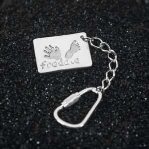 Tag Hand & Footprint Keyring
