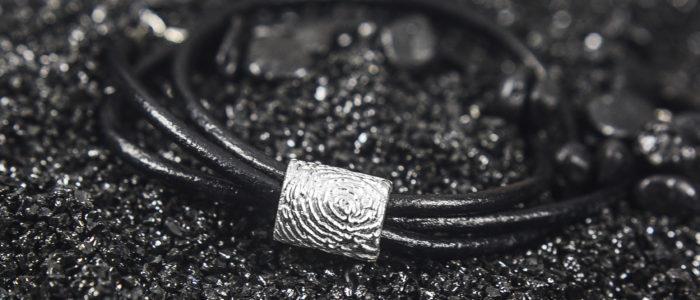 Enhanced Fingerprint Charm Mens Personalised Gifts Personalised Fingerprint Jewellery