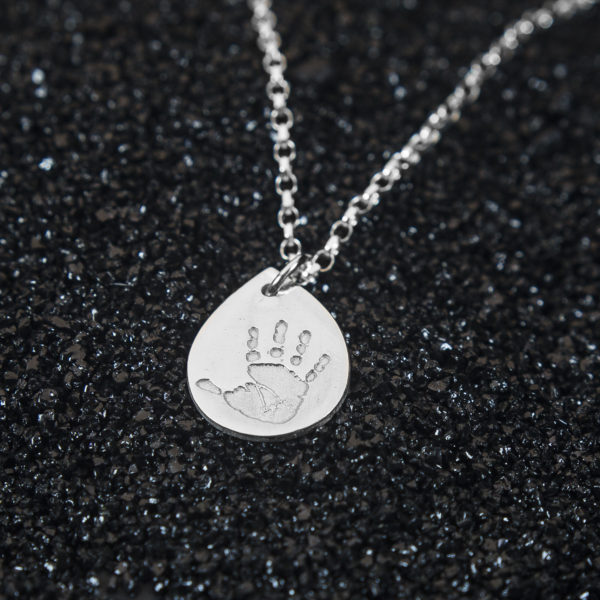Droplet Handprint Jewellery Pendant