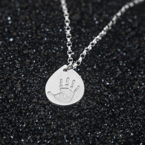 Droplet Handprint Jewellery Pendant