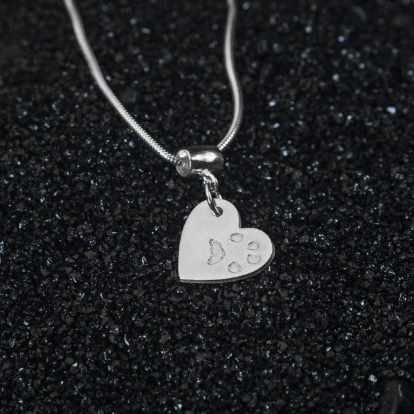 Paw Print Jewellery Pendant