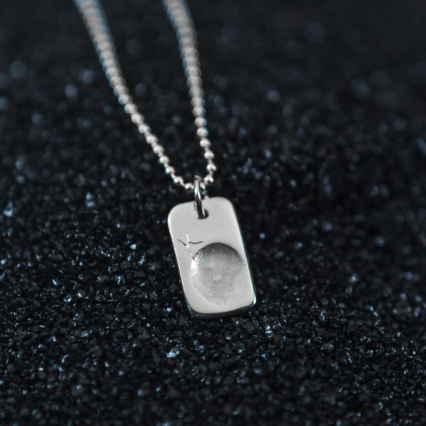 Men's Tag Fingerprint Jewellery Pendant