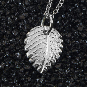 Enhanced Leaf Fingerprint Pendant