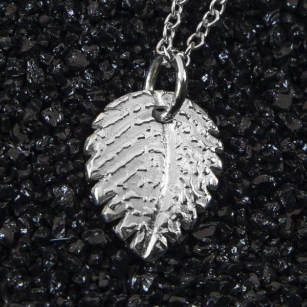 Enhanced Leaf Fingerprint Pendant