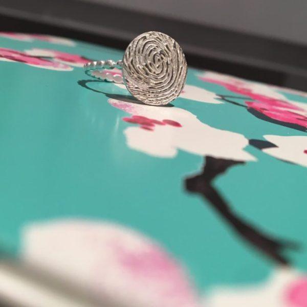 Enhanced Circle Fingerprint Ring Jewellery