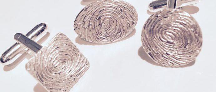 Fingerprint Cufflinks   Personalised Cufflinks   men's gifts