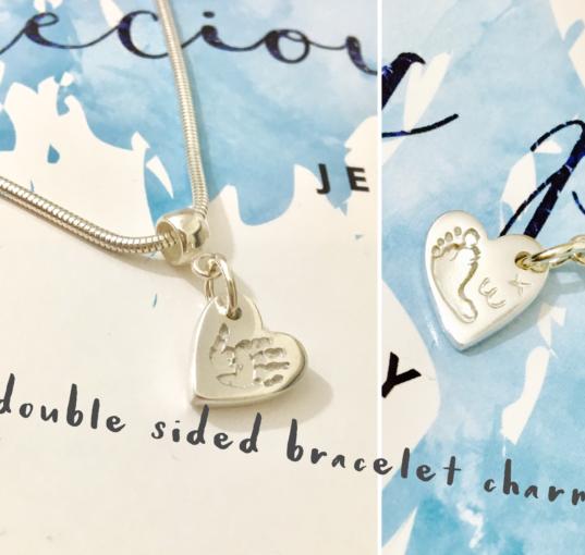 Footprint Charm|Handprint Bracelet Charm|Motherdays Day Personalised Gifts