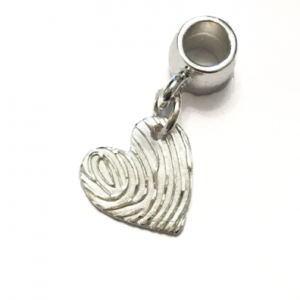 Fingerprint jewellery bracelet charm