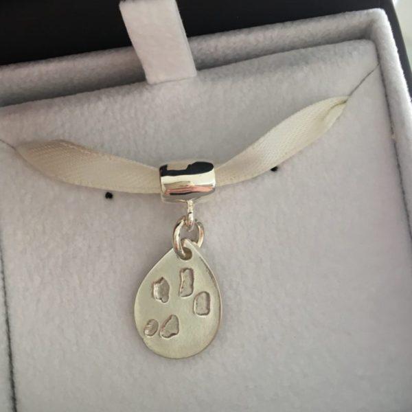 Paw Print Bracelet Charm