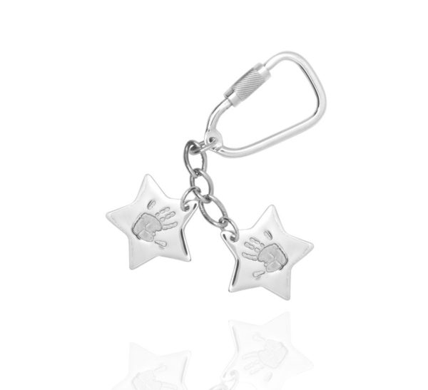 Personalised Handprint Star Keyring