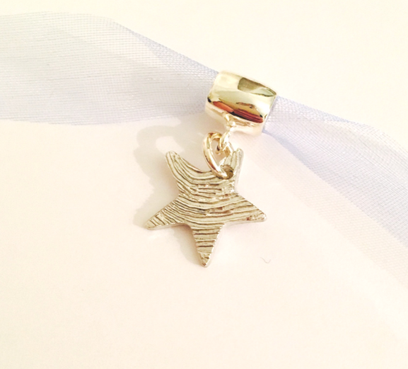 Fingerprint Star Bracelet Charm