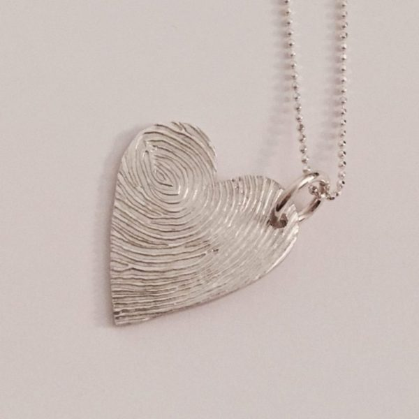 Fingreprint Heart Pendant