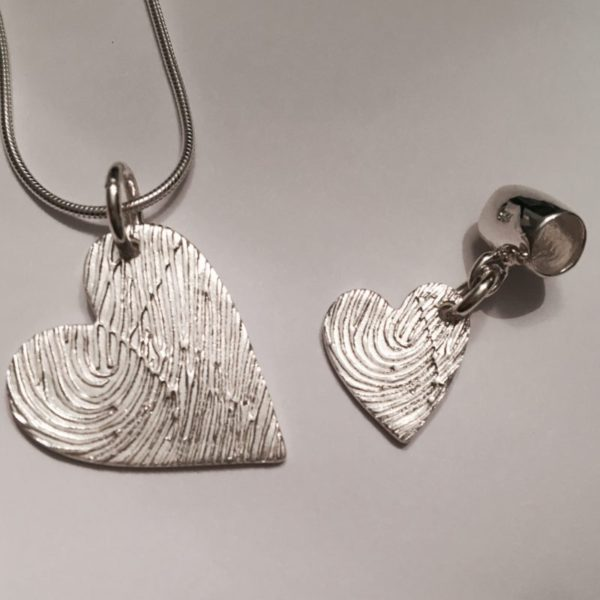 Personalised fingerprint jewellery