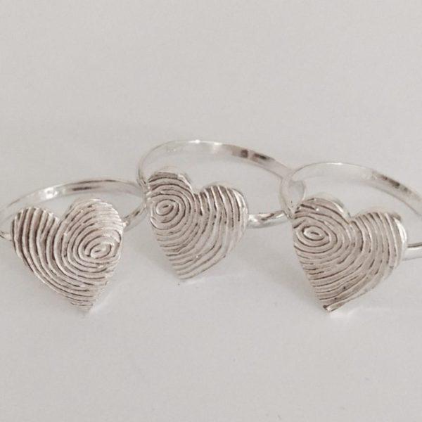 Memorial jewellery rings