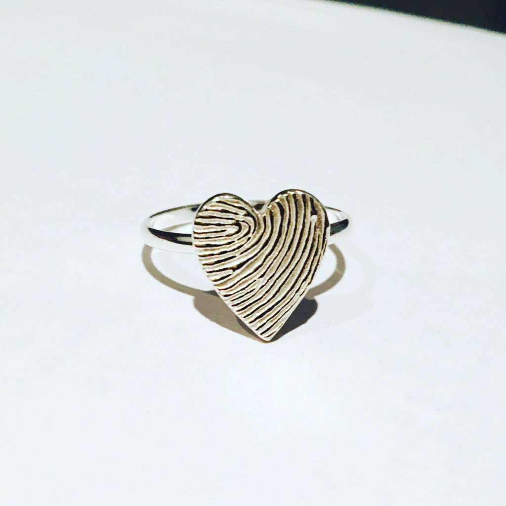 Fingerprint jewellery ring