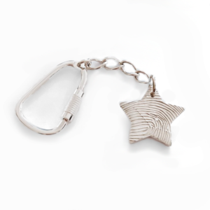 star fingerprint keyring