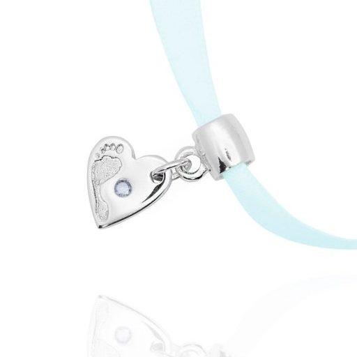 pandora heart footprint bracelet charm