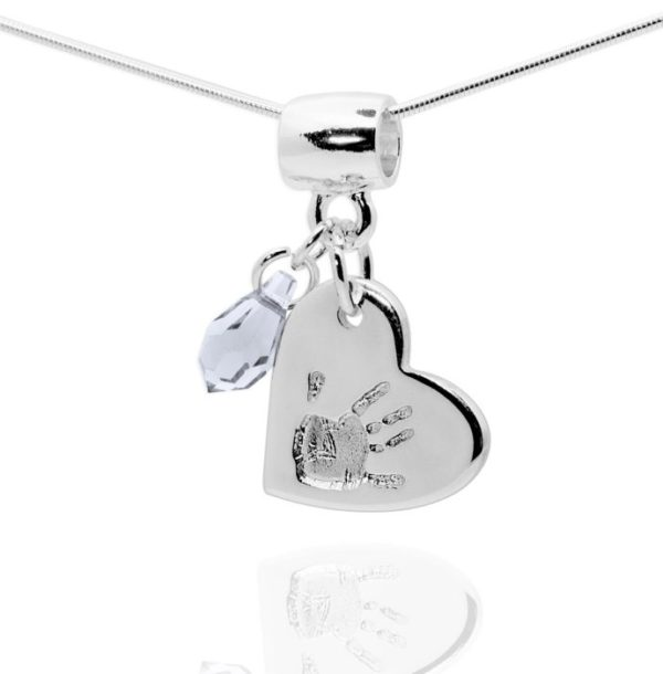 Heart Handprint Jewellery Pendant