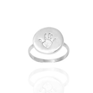 Baby handprint ring