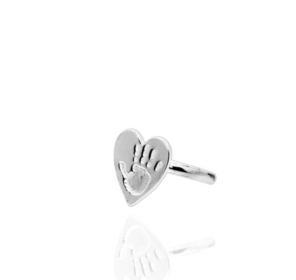 Handprint Heart Ring