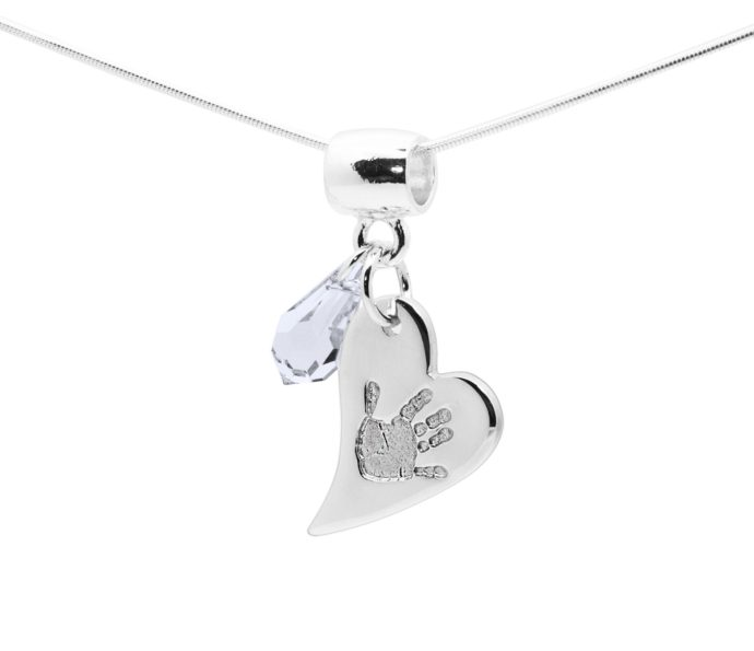 Baby handprint jewellery pendant available from 75 handmade baby print jewellery aloadofball Choice Image