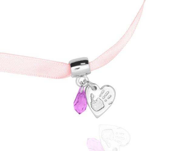 Handprint bracelet charm