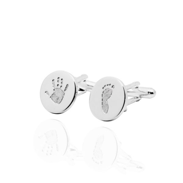 hand and footprint cufflinks