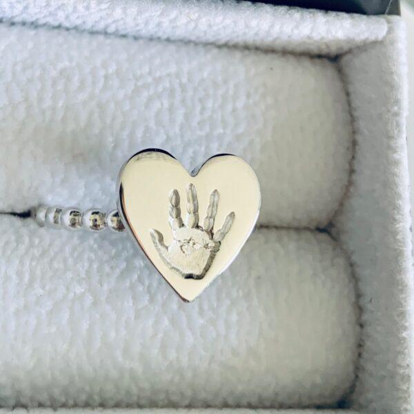 Heart Handprint Ring