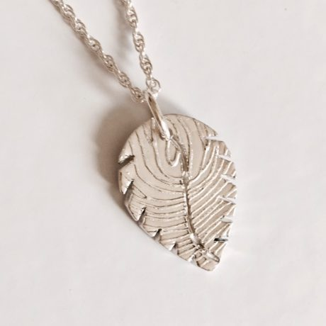 Leaf fingerprint pendant