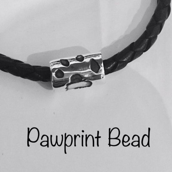 pawprint pandora bead