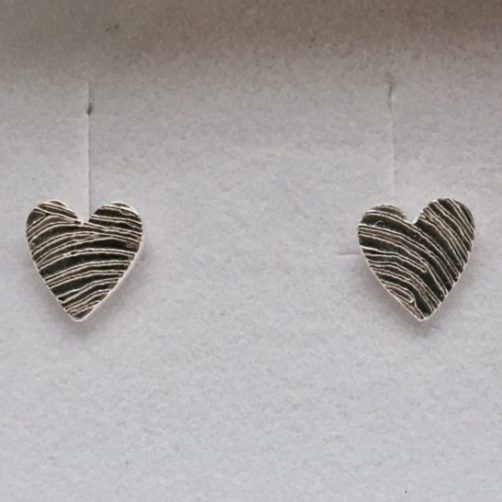 Heart Fingerprint Earrings