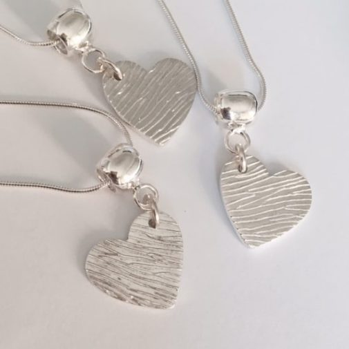 memorial jewellery heart necklaces