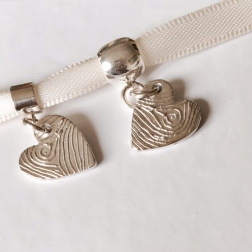 personalised fingerprint bracelet charm