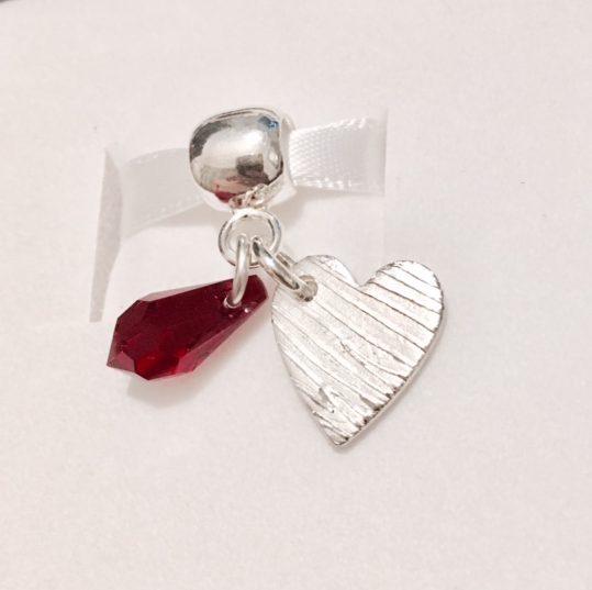 silver fingerprint bracelet charm