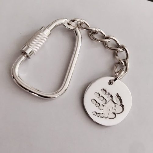 Personalised Handprint Keyring
