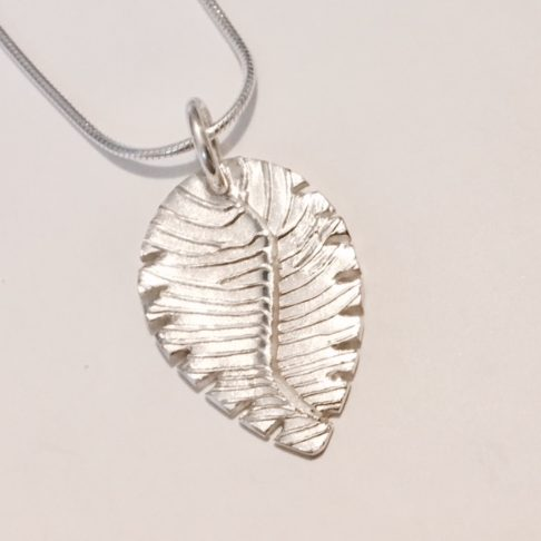 Fingerprint Leaf Pendant