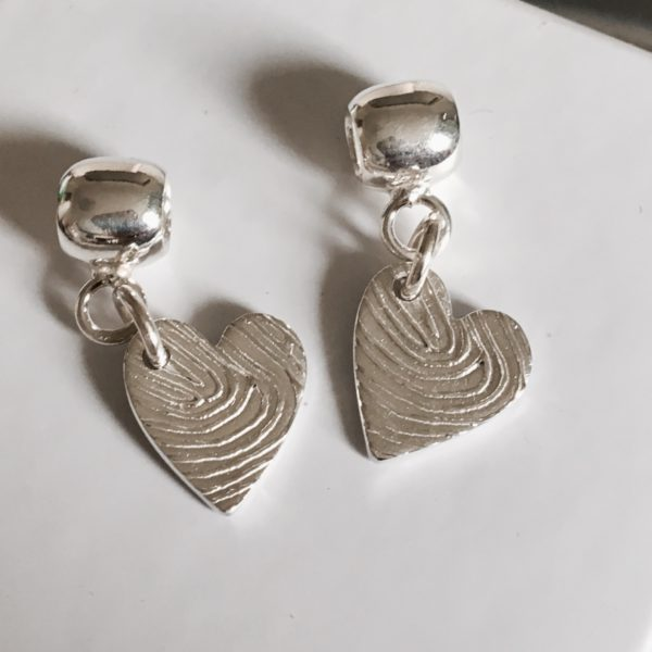 Personalised Heart Fingerprint Charm