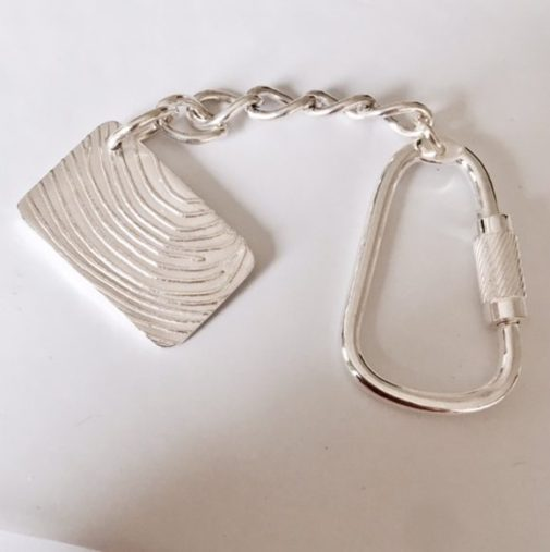 Personalised rectangle Fingerprint Keyrings