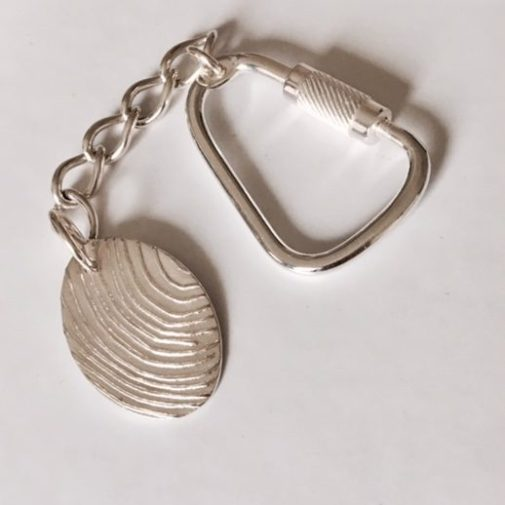 Personalised oval Fingerprint Keyrings
