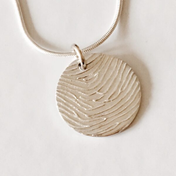 Personalised Circle Fingerprint Pendant