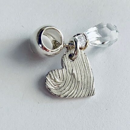 personalised mothers day gifts Heart Fingerprint Charm