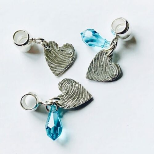Pandora Compatible Fingerprint Charms mothers day