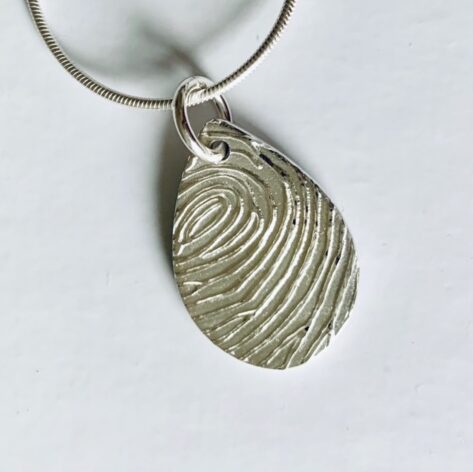 Personalised Teardrop Fingerprint Charm mothers day gift