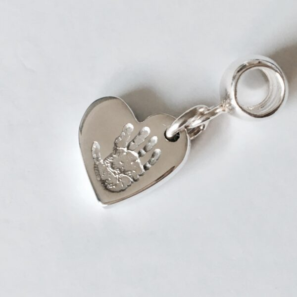 pandora personalised handprint heart charm