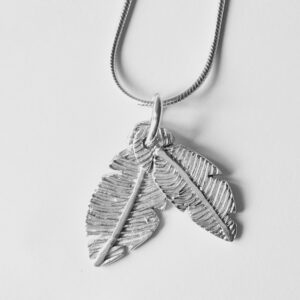 Feather fingerprint pendant