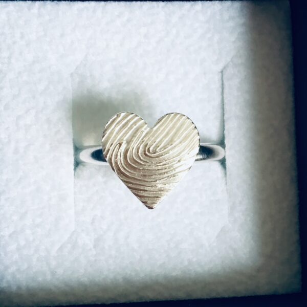 heart fingerprint ring