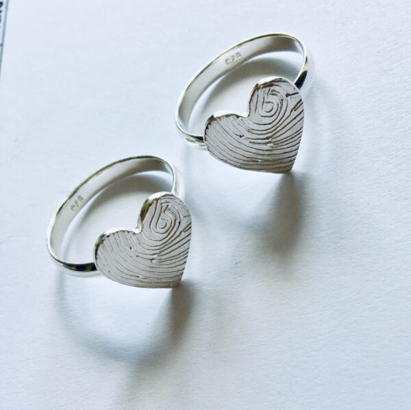 personalised fingerprint ring|heart fingerprint ring