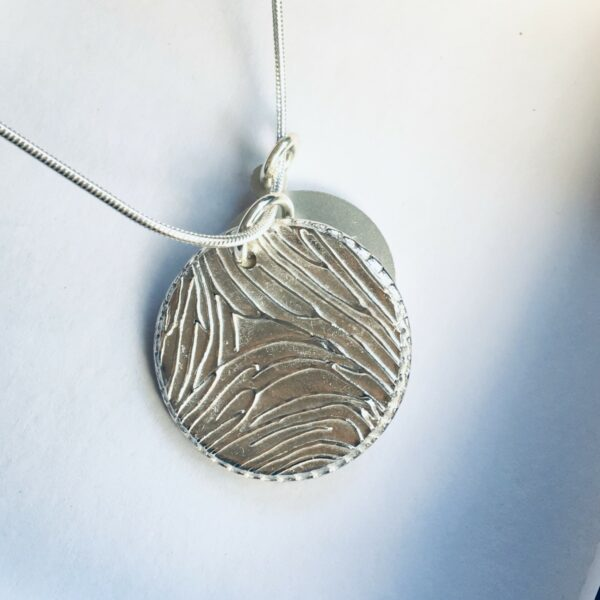 Circle Fingerprint Pendant
