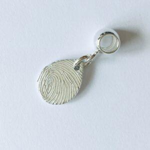 personalised fingerprint bracelet charm | teardrop fingerprint charm